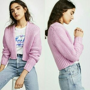 NWT FREE PEOPLE 'GLOW FOR IT' KNIT CARDI!
